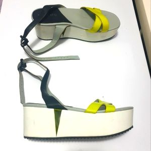 STACCATO flatform cut out heel shoes AUS 9